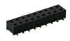 SMD Buchsenleiste 2,54 mm 2-reihig 180°, beidseitig steckbar