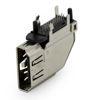 HDMI 19 Pin THT 90° stehend