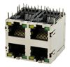 RJ45 Multiport 2x2 bis 2x8 8P Side Entry geschirmt mit LED