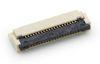 0,50 mm SMD FPC  Easy-Lock ZIF Verbinder liegend 90°, Kontakte unten