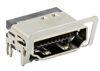 HDMI 19 Pin THT 3-reihig, mit Massefeder