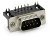 D-Sub Stecker mit EMI Filter 90°, Raster: 8,08 mm