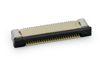 0,50 mm SMD FPC  ZIF Verbinder liegend 90°, Kontakte unten