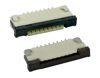 1,00 mm SMD FPC ZIF Verbinder liegend 90°, Kontakte oben oder unten