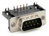 D-Sub Stecker mit EMI Filter 90°, Raster: 10,30 mm